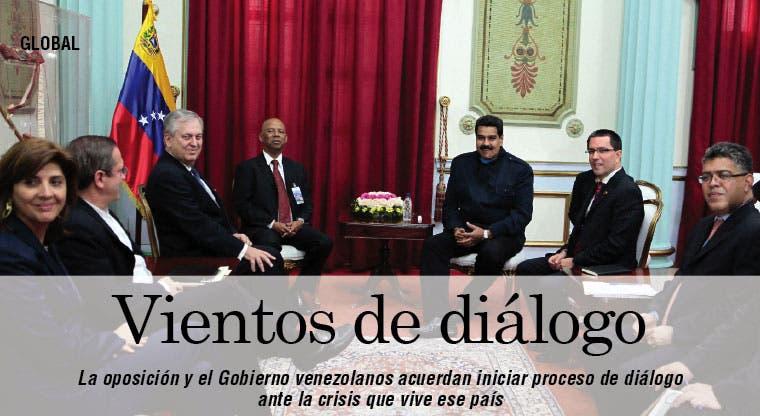Oposición y Gobierno venezolanos aceptan dialogar