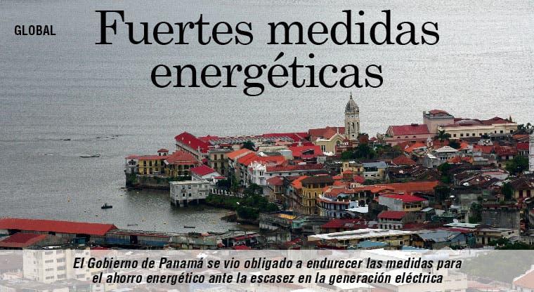 Panamá endurece medidas energéticas