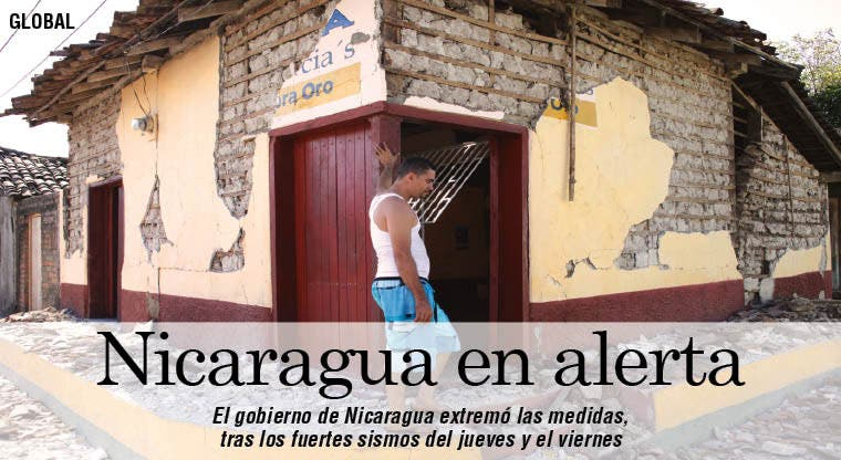 Alerta tras sismo en Nicaragua