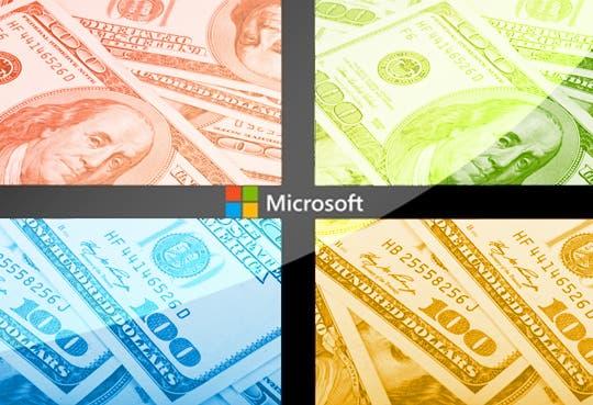 Beneficio neto de Microsoft cayó un 6,5 %