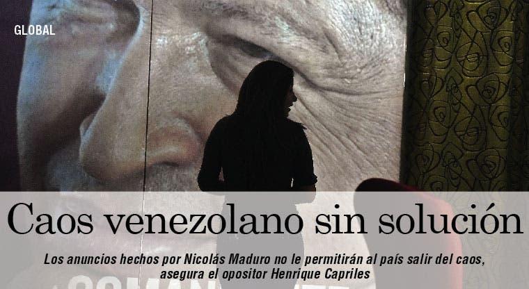 Capriles: Venezuela no saldrá del caos