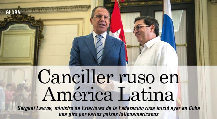 Lavrov inicia en Cuba gira por América Latina