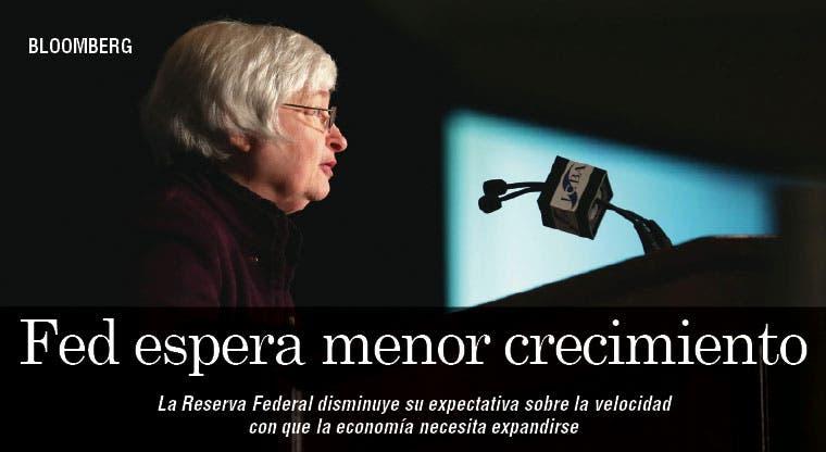 La Fed espera menores expectativas de crecimiento