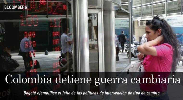 Colombia detiene guerra cambiaria