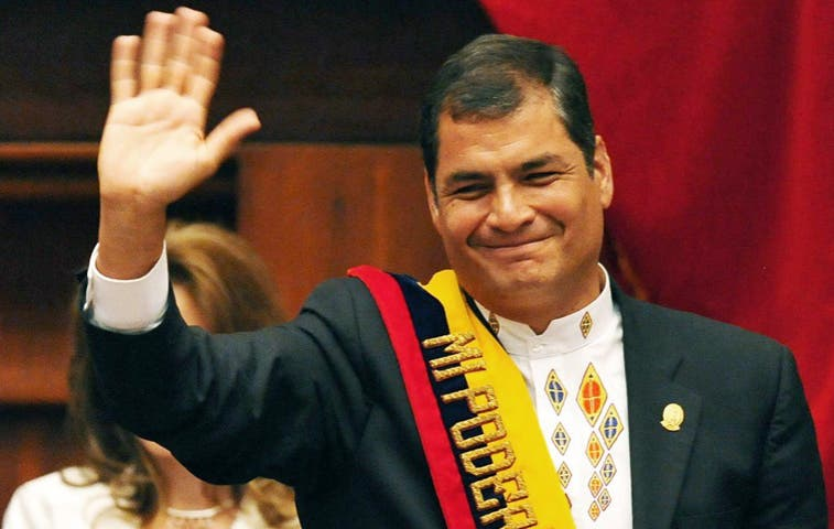 Rafel Correa llegó a Costa Rica