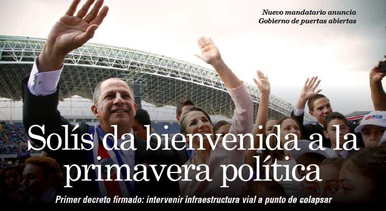 Solís da bienvenida a la primavera política