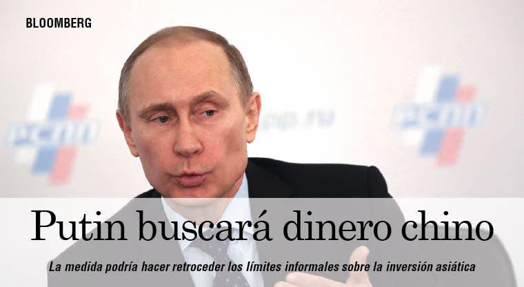Putin buscará dinero chino con límites para platino y oro