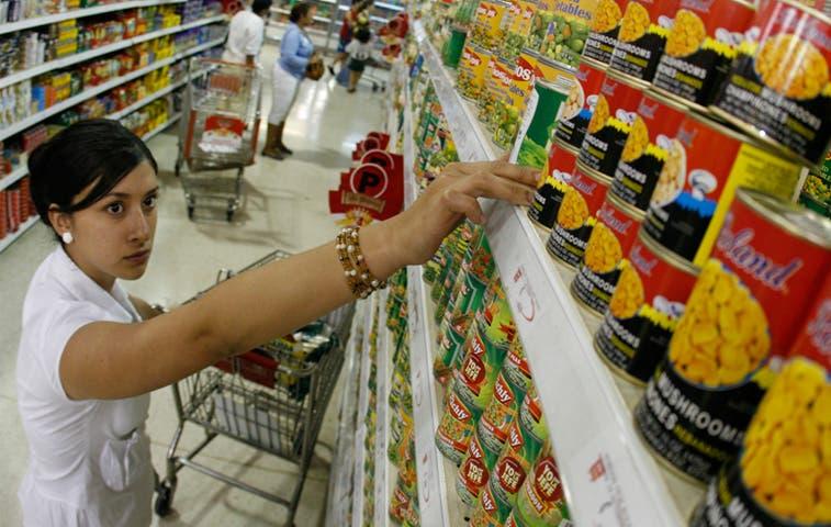 Leve aumento en inflación alimentaria de marzo