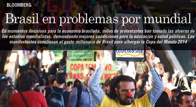 Brasileños organizan protestas a pocas semanas del Mundial