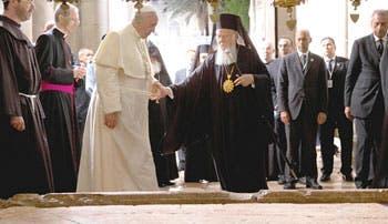 Papa Francisco  y Bartolomeo buscan  unión
