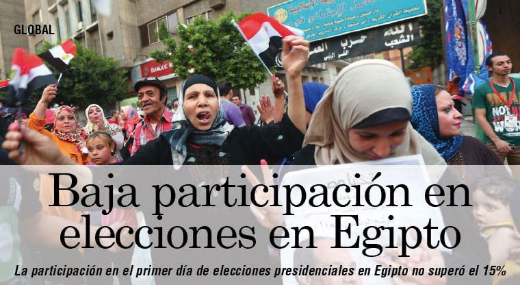 Baja participación en elecciones presidenciales en Egipto