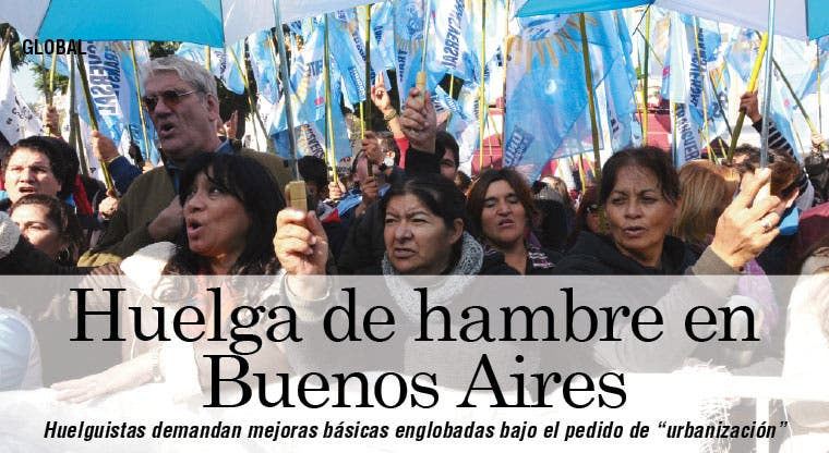 Se unió a la huelga de hambre en Buenos Aires el cartonero del Papa