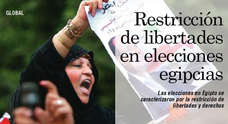 UE critica restricción de libertades en elecciones egipcias
