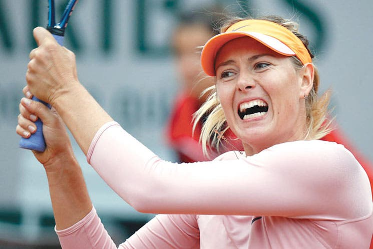 ¡Susto para Sharapova!