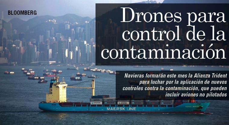 Navieras proponen drones para control de contaminación