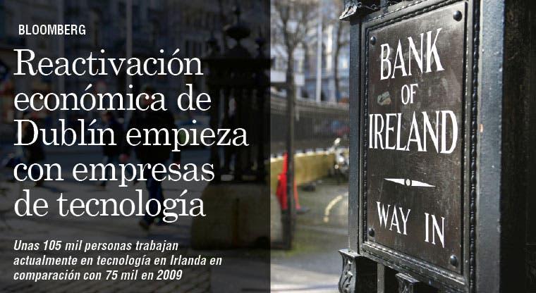Empresas de tecnología reemplazan a bancos en reactivación de Dublín