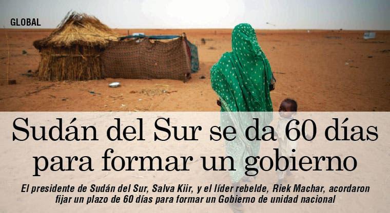 60 días para nuevo gobierno en Sudán del Sur