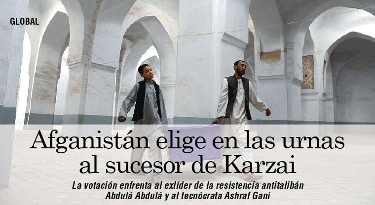 Afganistán elige en las urnas al sucesor de Karzai