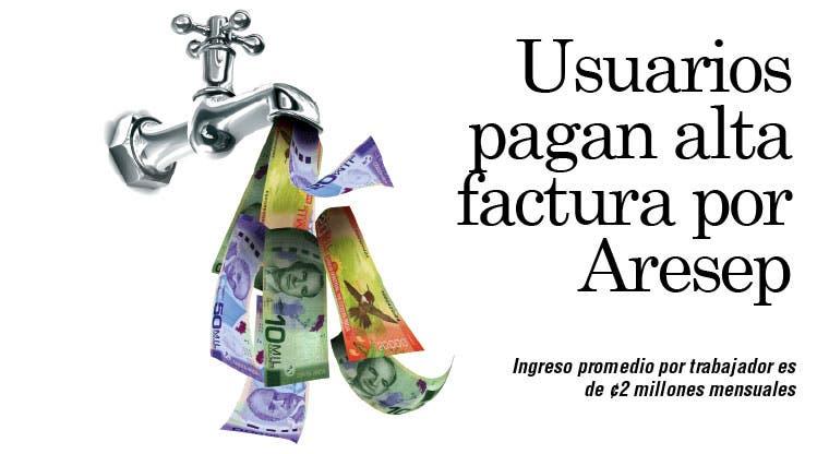 Usuarios pagan alta factura por Aresep