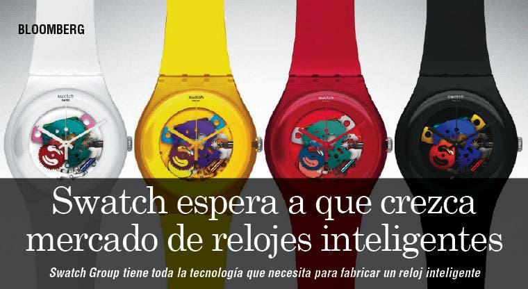 Swatch espera con Apple a que crezca mercado de relojes inteligentes