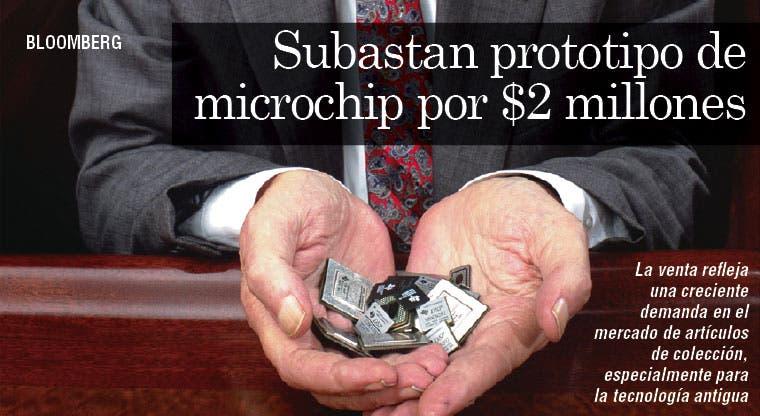 Subastan prototipo de microchip por $2 millones
