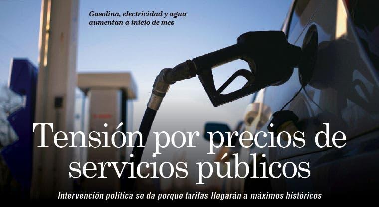Tensión por precios de servicios públicos
