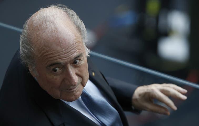 Joseph Blatter se encuentra en el Arena Pernambuco
