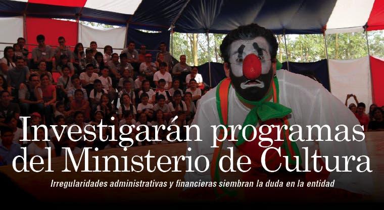 Piden investigar programas del Ministerio de Cultura