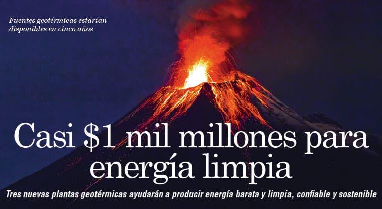 Casi $1 mil millones para energía limpia