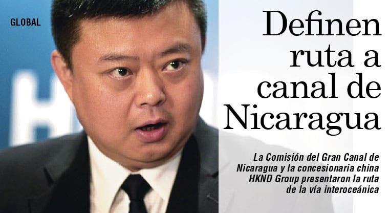 Presentan ruta del proyecto del canal de Nicaragua