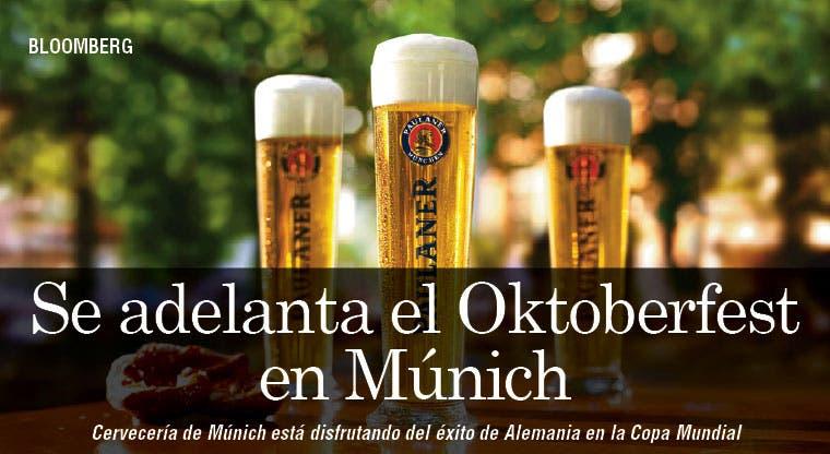 Se adelanta Oktoberfest en Múnich debido a Copa Mundial