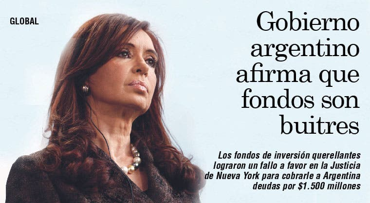 Gobierno argentino afirma que fondos son buitres