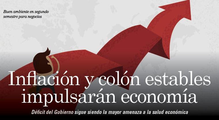 Inflación y colón estables impulsarán economía