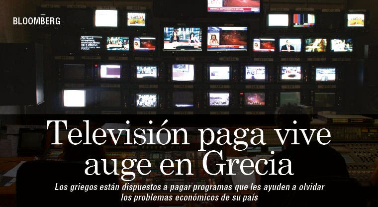 Televisión paga vive auge en Grecia