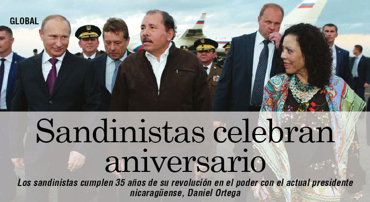 Sandinistas celebran aniversario de la revolución