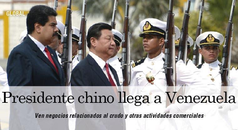 Presidente chino llega a Venezuela y se prepara para Cuba