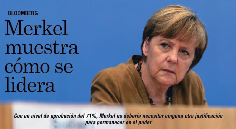 Merkel muestra a los hombres cómo se lidera