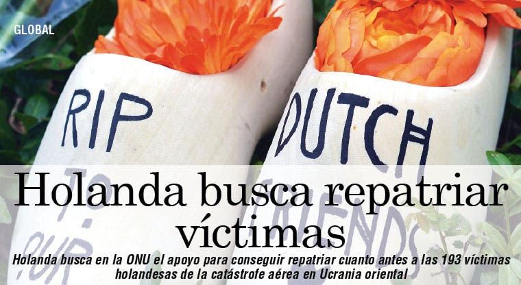 Holanda busca apoyo internacional para repatriar víctimas