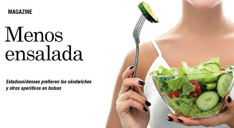 Ni siquiera una supermodelo puede vender ensaladas