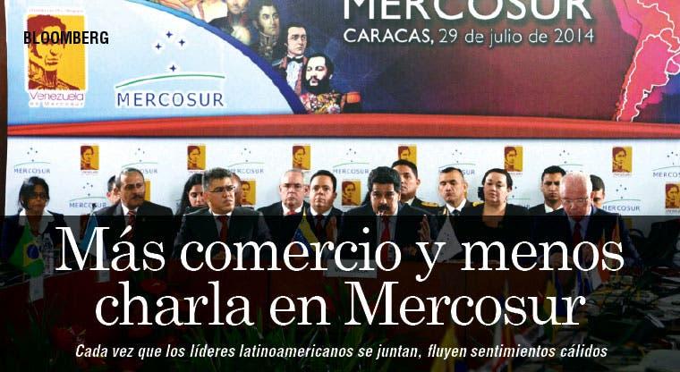 Más comercio y menos charla en Mercosur