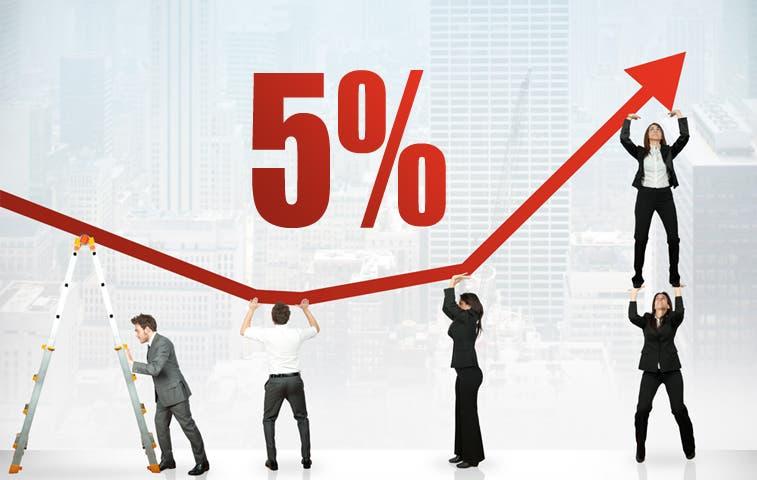 Empleados públicos recibirán entre 4% y 5,14% de aumento