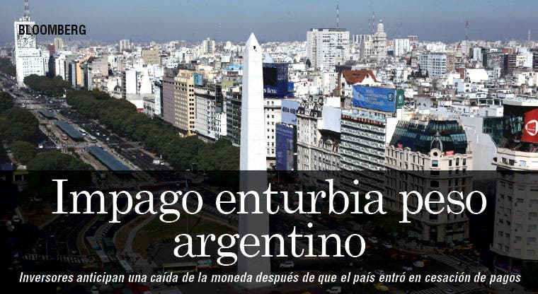 Cesación de pagos enturbia peso argentino