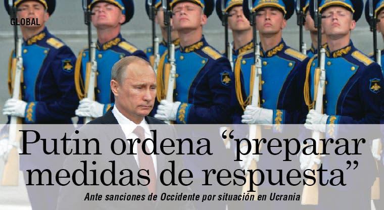 Putin ordena medidas de respuesta a sanciones de Occidente