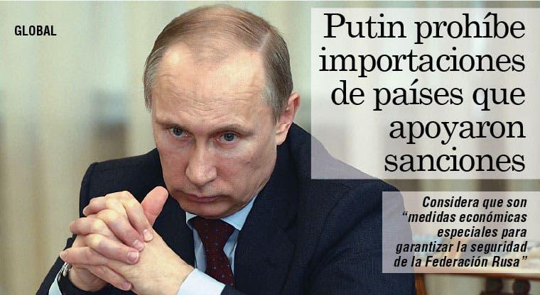 Putin prohíbe compras a países que apoyaron sanciones