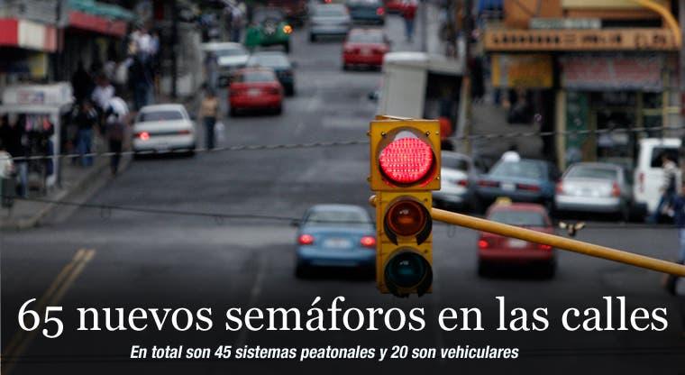 65 nuevos semáforos en las calles