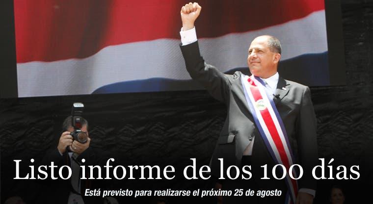Listo informe de los 100 días