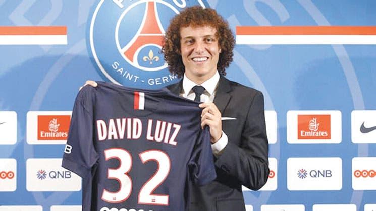 PSG presentó a David Luiz
