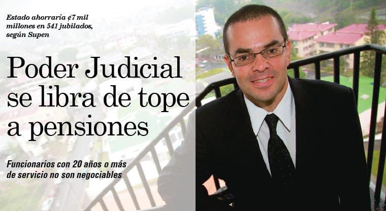 Poder Judicial se libra de tope a pensiones