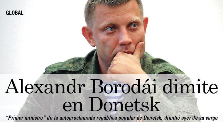Dimite el primer ministro de Donetsk