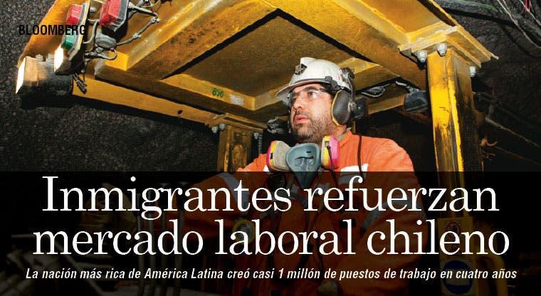 Inmigrantes refuerzan mercado laboral chileno